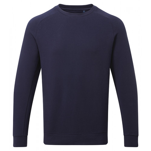Asquith Mens Organic Crew neck sweat Navy
