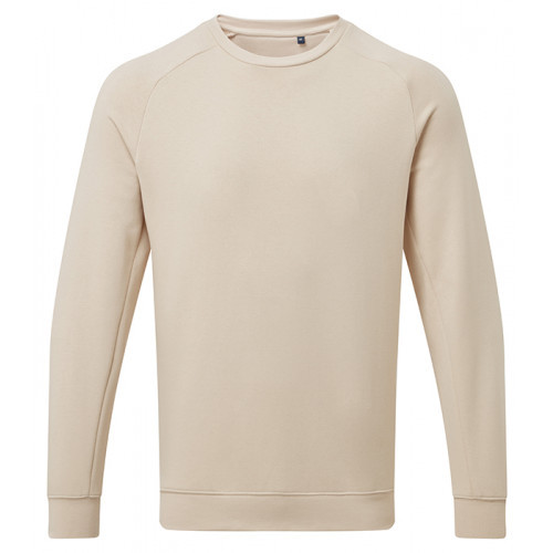 Asquith Mens Organic Crew neck sweat Natural