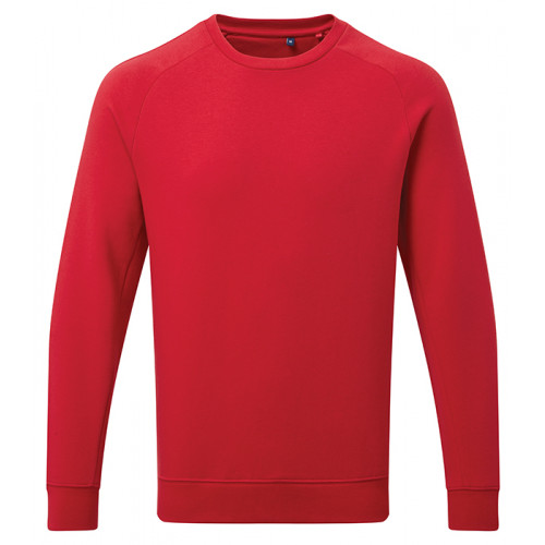 Asquith Mens Organic Crew neck sweat Cherry Red