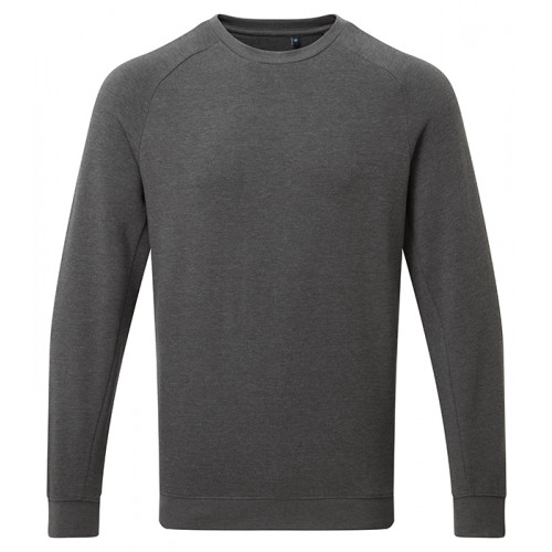 Asquith Mens Organic Crew neck sweat Charcoal