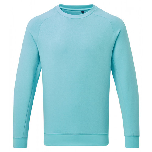 Asquith Mens Organic Crew neck sweat Bright Ocean