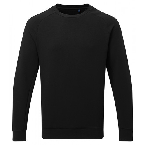 Asquith Mens Organic Crew neck sweat Black