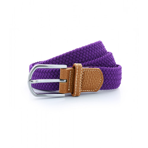 Asquith Braid Stretch Belt Purple