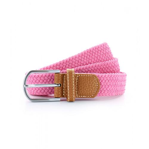 Asquith Braid Stretch Belt Pink Carnation