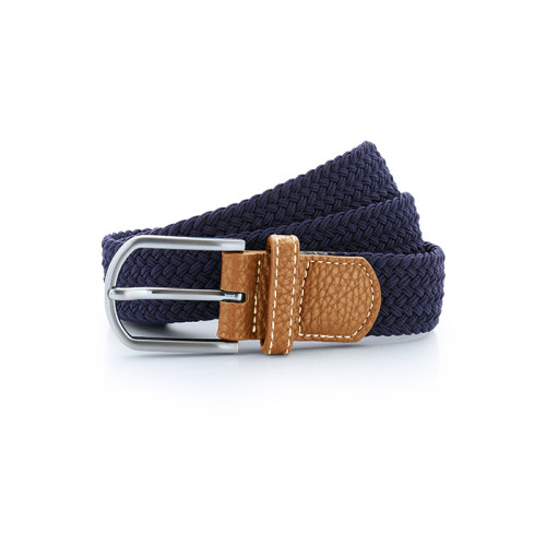 Asquith Braid Stretch Belt Navy