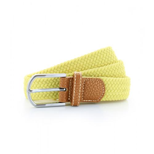 Asquith Braid Stretch Belt Lemon Zest