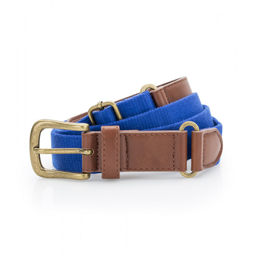 Asquith Faux Leather & Braid Belt Royal