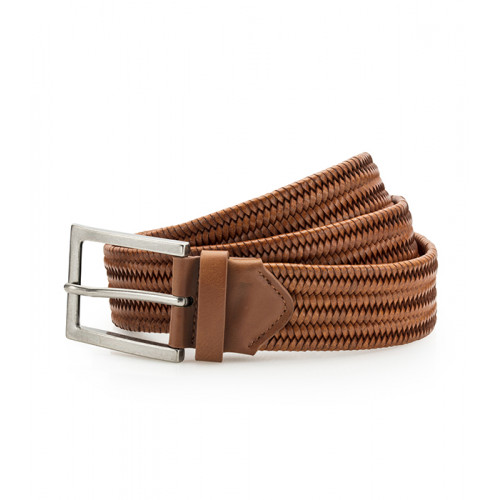 Asquith Leather Braid Belt Tan