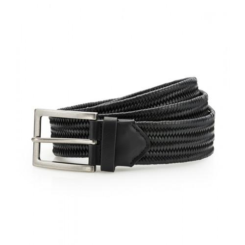 Asquith Leather Braid Belt Black