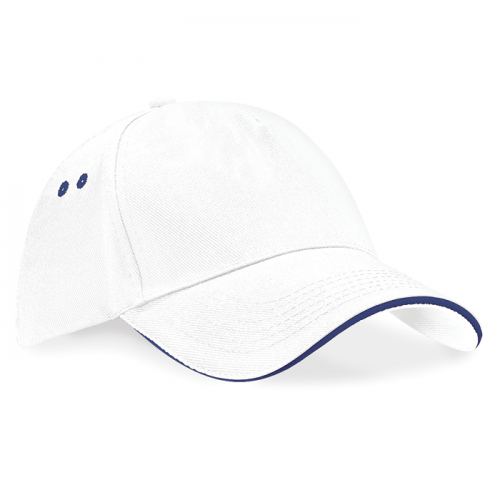 Beechfield Ultimate 5 Panel Cap White/French Navy