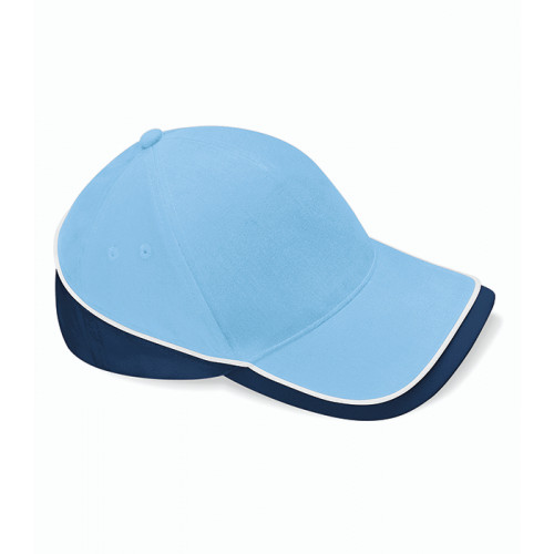 Beechfield Teamwear Competition Cap Sky Blue/French Navy/White