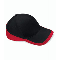 Beechfield Teamwear Competition Cap Black/Classic Red