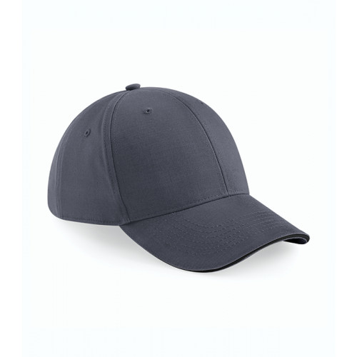 Beechfield Athleisure 6 Panel Cap Graphite Grey/Black