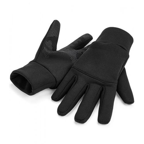 Beechfield Softshell Sports Tech Gloves Black
