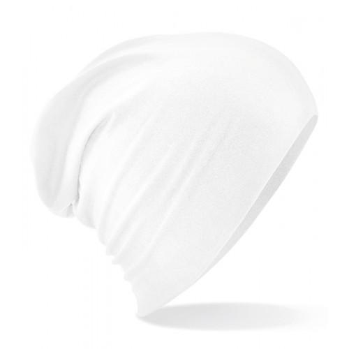 Beechfield Hemsedal Cotton Slouch Beanie White