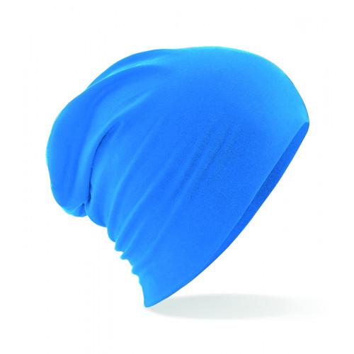 Beechfield Hemsedal Cotton Slouch Beanie Sapphire Blue