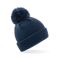 Beechfield Junior Reflective Bobble Beanie French Navy