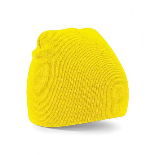 Beechfield Beanie Knitted Hat Yellow