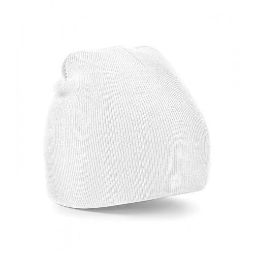 Beechfield Beanie Knitted Hat White