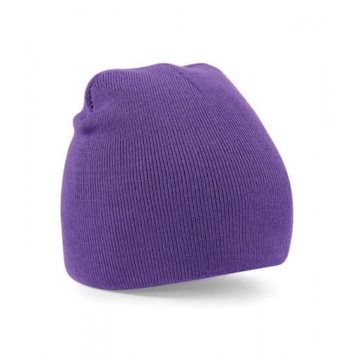 Beechfield Beanie Knitted Hat Purple
