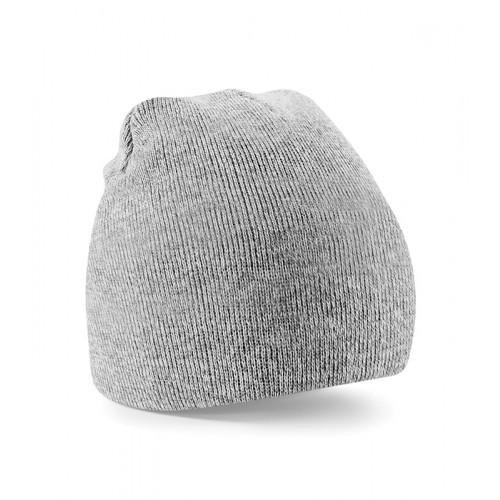 Beechfield Beanie Knitted Hat Heather Grey