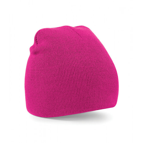 Beechfield Beanie Knitted Hat Fuchsia