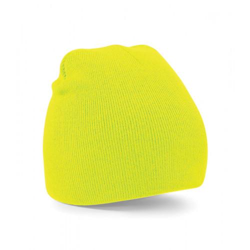 Beechfield Beanie Knitted Hat Fluorescent Yellow