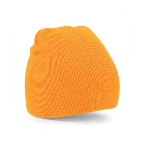 Beechfield Beanie Knitted Hat Fluorescent Orange