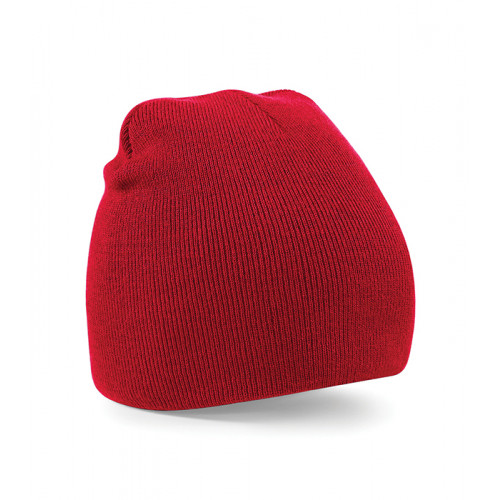 Beechfield Beanie Knitted Hat Classic Red