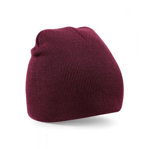 Beechfield Beanie Knitted Hat Burgundy