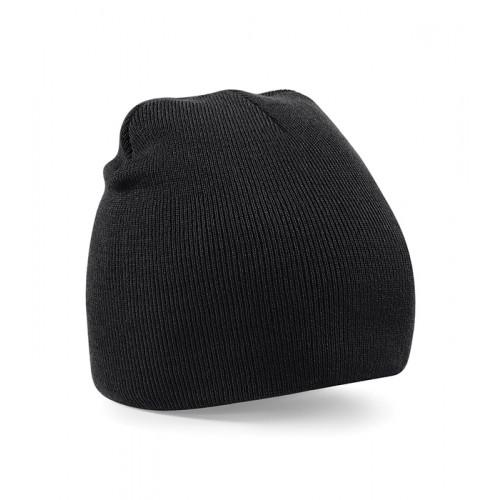 Beechfield Beanie Knitted Hat Black