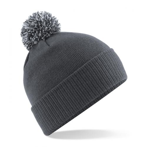 Beechfield Snowstar Duo Beanie Graphite Grey/Light Grey