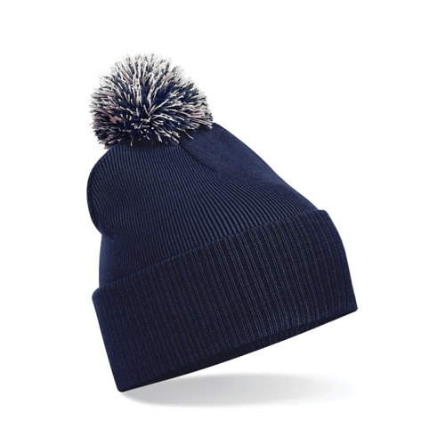 Beechfield Snowstar Duo Beanie French Navy/Light Grey