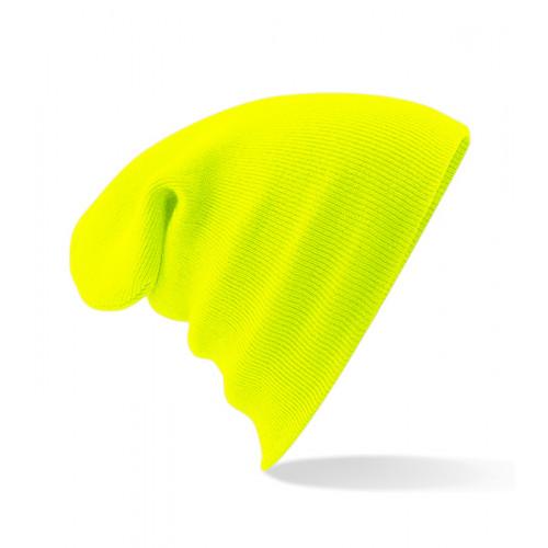 Beechfield Junior Knitted Hat Fluorescent Yellow