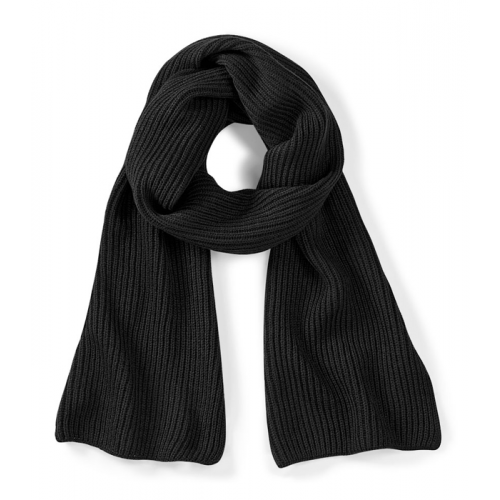 Beechfield Metro Knitted Scarf Black