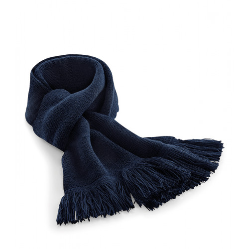 Beechfield Classic Knitted Scarf French Navy