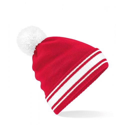 Beechfield Stadium Beanie Classic Red/White