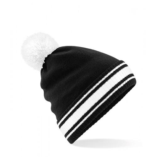 Beechfield Stadium Beanie Black/White