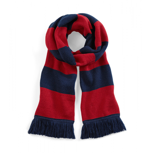 Beechfield Stadium Scarf French Navy/Classic Red