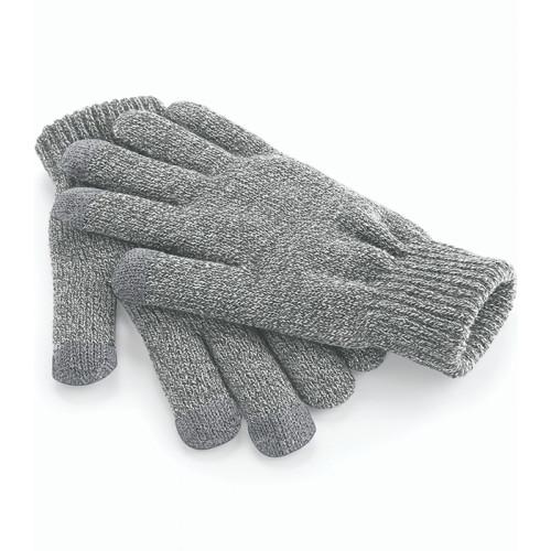 Beechfield Touch Screen Smart Gloves Heather Grey