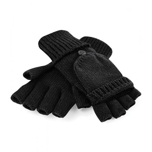 Beechfield Fliptop Gloves Black
