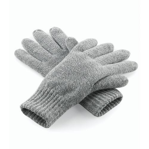 Beechfield Classic Thinsulate Gloves Heather Grey