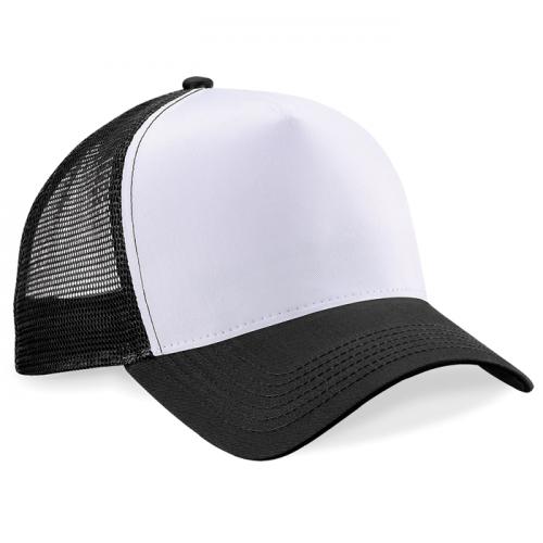 Beechfield Snapback Trucker Black/White