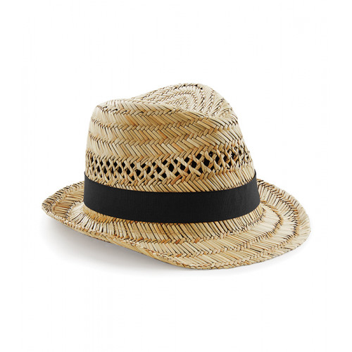 Beechfield Straw Summer Trilby Natur
