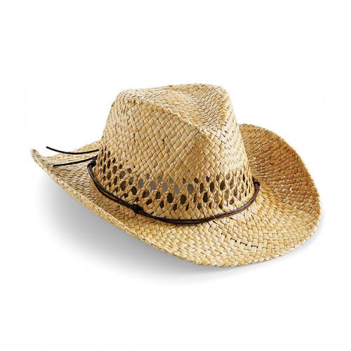Beechfield Straw Cowboy Hat Natur