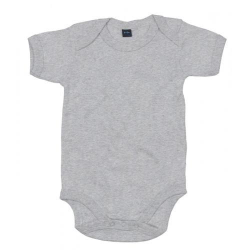 Babybugz Baby Bodysuit Heather Grey Melange