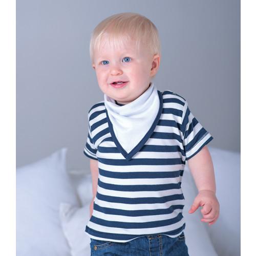 Babybugz Bandana Bib White/Heather Grey 3094