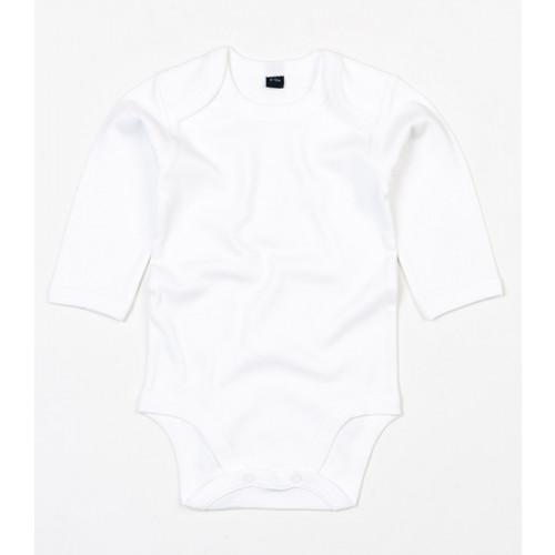 Babybugz Organic Baby Long Sleeve Bodysuit White