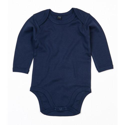 Babybugz Organic Baby Long Sleeve Bodysuit Nautical Navy