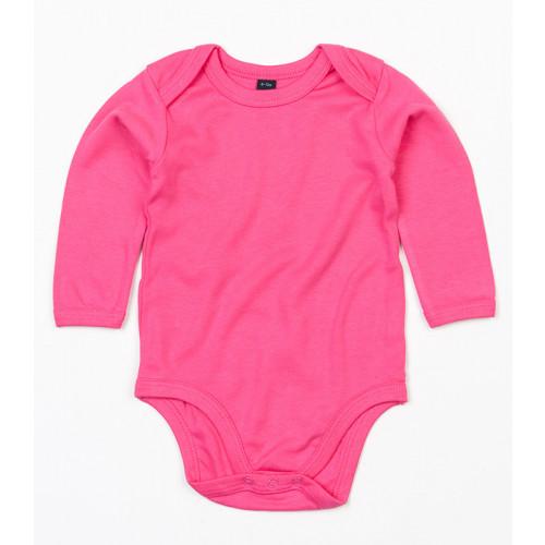 Babybugz Organic Baby Long Sleeve Bodysuit Fuchsia